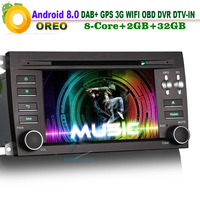 Android 8,0 DAB + Sat Nav Авторадио DVD OBD WiFi 3g радио RDS автомобильный gps навигационная система DVR Bluetooth для Porsche Cayenne DTV IN BT SD