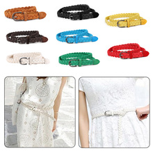2019 NEW Style Womens Belt Brief Knitted Candy Colors  Rope Braid Female For Dress High Quality