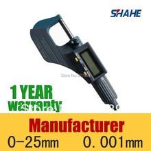 Цифровой Microcaliper шахе Микрометра измерительный прибор электронные 0-25 мм микрометр