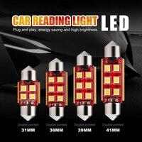EURS 12V LED Festoon 31mm 36mm 39mm 41mm 3030 LED Car Dome Light C3W C5W Auto Interior Reading Lamp Licence Plate Bulb Canbus