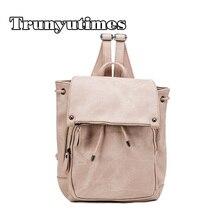 Trunyutimes женщины рюкзак большой кожа школьный рюкзак винтаж путешествия Mochila 2017 back to school Bookbags розовый рюкзак