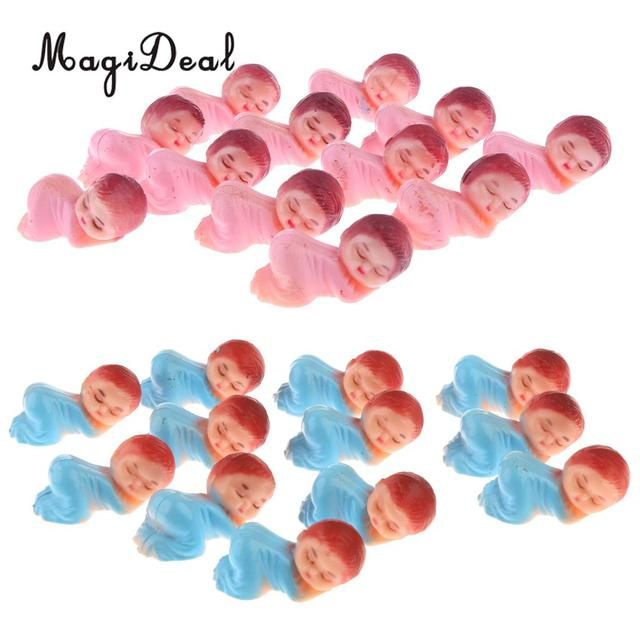 24pcs Mini Sleeping Baby Figures Doll Boy Girl Baby Shower Favor Party Bag  Filler Table Decorations