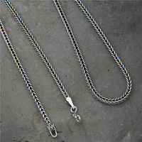 S925 Sterling Silver Necklace Fox Tail Chain Silver Snake Necklaces Snake Clavicle Horse Verbena Chain