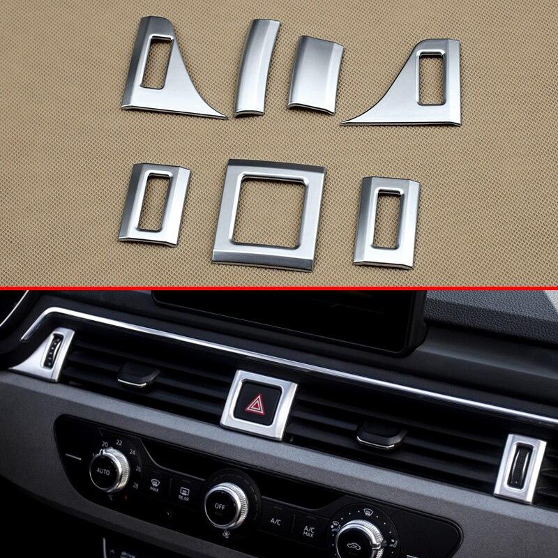 Matte Chrome Dashboard Airvent For Audi A4 A5 B9 F5 Sedan
