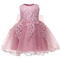 Платье принцессы для маленьких девочек, элегантное платье с цветочным рисунком для маленьких девочек 1 год, вечерние кружевные бальные плат...