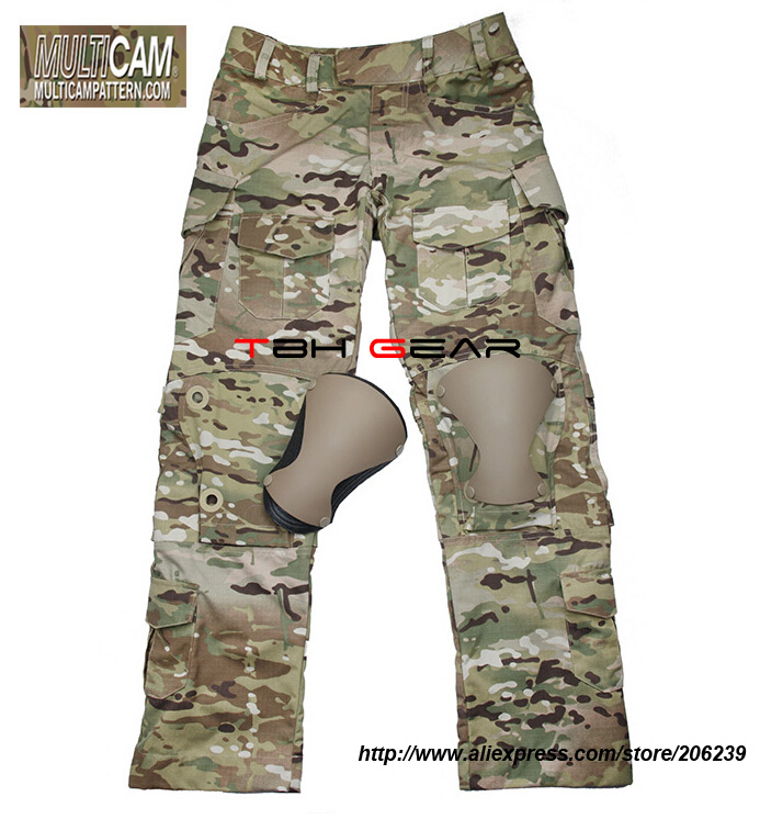 TMC L9 Tactical Combat Pants Multicam With Knee Pads Original Multicam Fabrics Free shipping SKU12050812