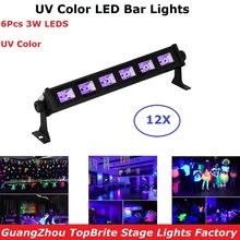 hot deal buy 12xlot cheap price led uv bar lights 6x3w violet led wall washer light led dj disco dmx party indoor led washer landscape lights