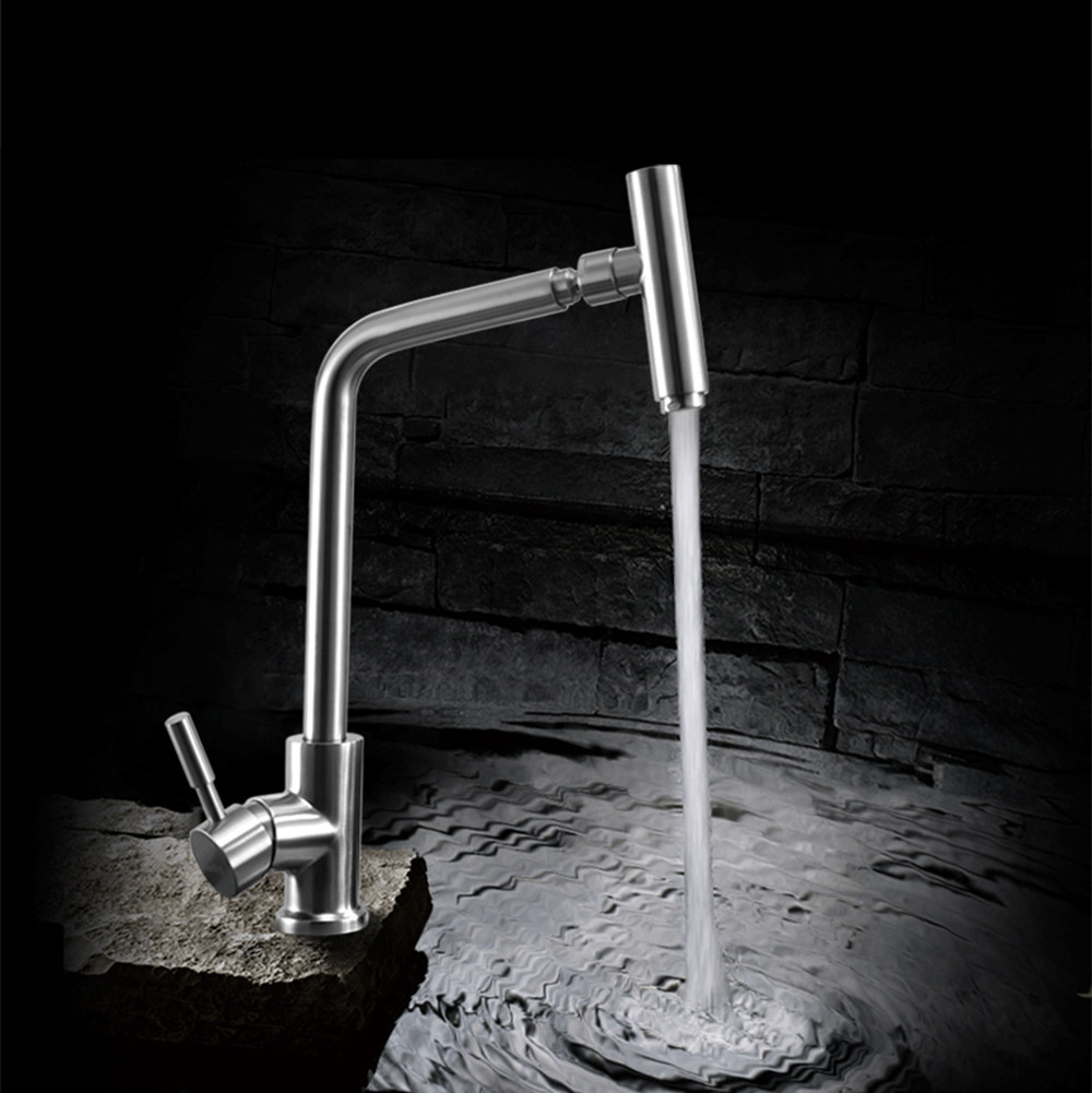 Free shipping high quality 304 stainless steel kitchen sink faucet mixer taps lead free brush rotating