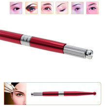 1pcs Professional Alloy Permanent Eyebrow Makeup Handmade Manual Tattoo Pen Brushwork Without Needle