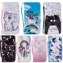 Чехол wekays для iphone x кожаный чехол с милым мультяшным котом