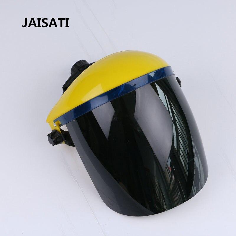 JAISATI Head-mounted transparent welding mask spatter welding protection face shielded argon arc welding mask