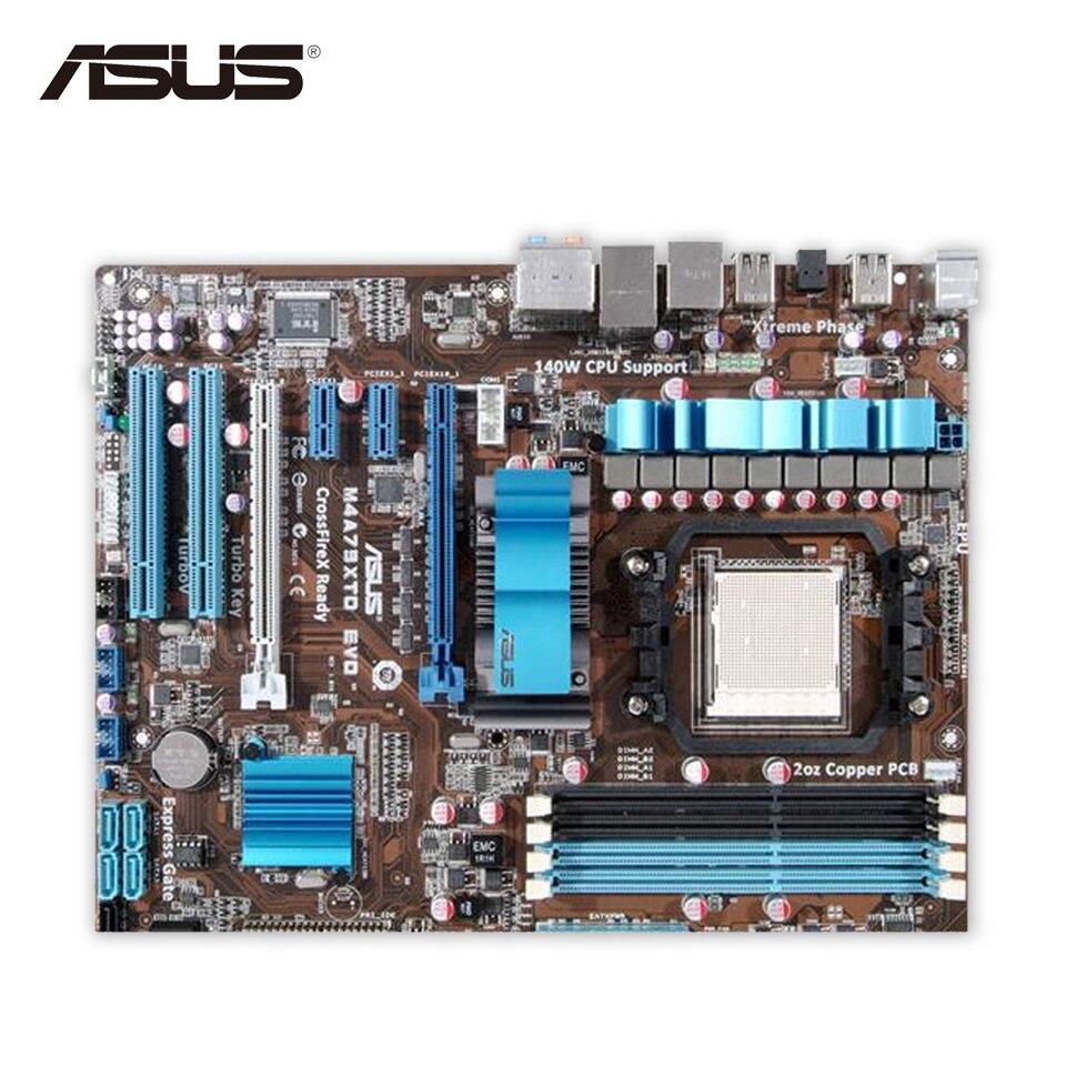 Asus M4A79XTD EVO Desktop Motherboard 790X Socket AM3 DDR3 SATA2 USB2.0 ATX Second-hand High Quality asus p5qpl am в киеве