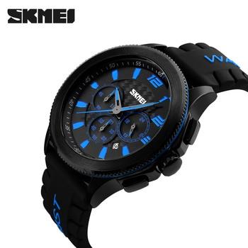 Men's SKMEI Luxury Brand Analog Quartz Watch Man 3ATM Waterproof Fashion Casual Sport Watches Men Silicone Wristwatch 9136 cool super man kids quartz watch analog wristwatch