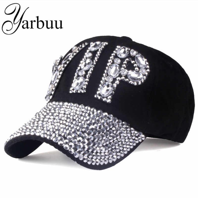 Yarbuu  Cap wholesale 2017 sombrero rhinestone Denim impresión remache  sombrero Sol-shading VIP bd85de9db29