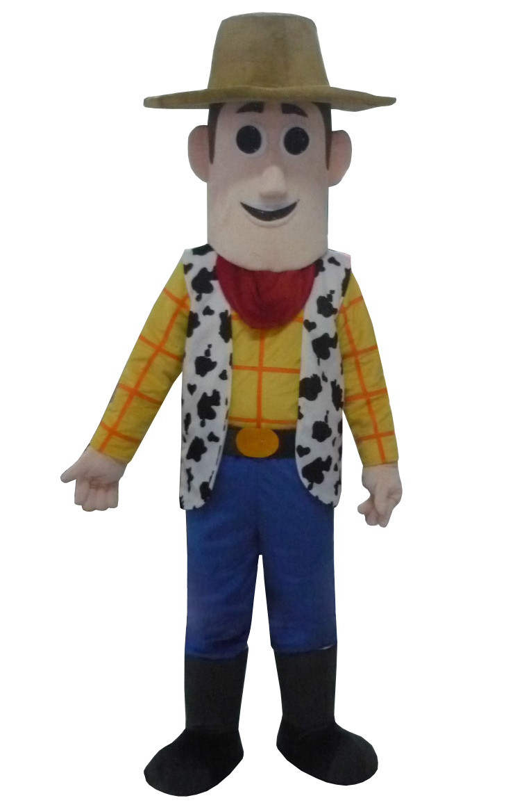 Cow Boy Woody Mascot Costume Cow Boy Mascot Costume Cartoon Mascot Adult Size for Party for Halloween Party Event Free Shipping