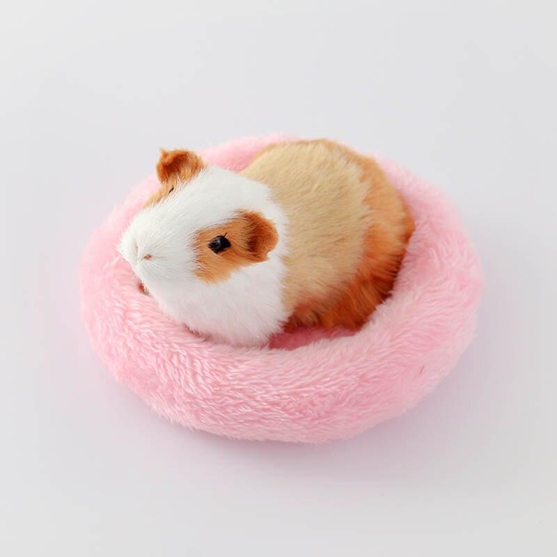 Kleine Huisdier Nest Warm Katoen Bed Huisdier Katoen Pads Huisdier Fluwelen Slaap Mat Hamster Nest Pad Ronde Vorm 1 St S/l Dier Benodigdheden Materialen Van Hoge Kwaliteit