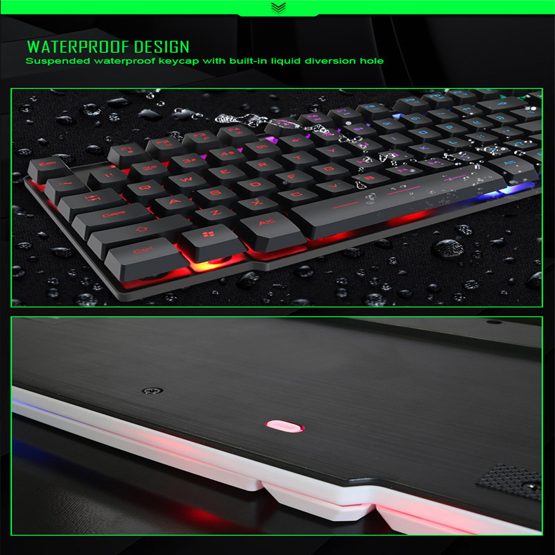 IMICE MK-680 ordinateur portable flottant Keycap rétroéclairé souris de jeu et clavier 4.10