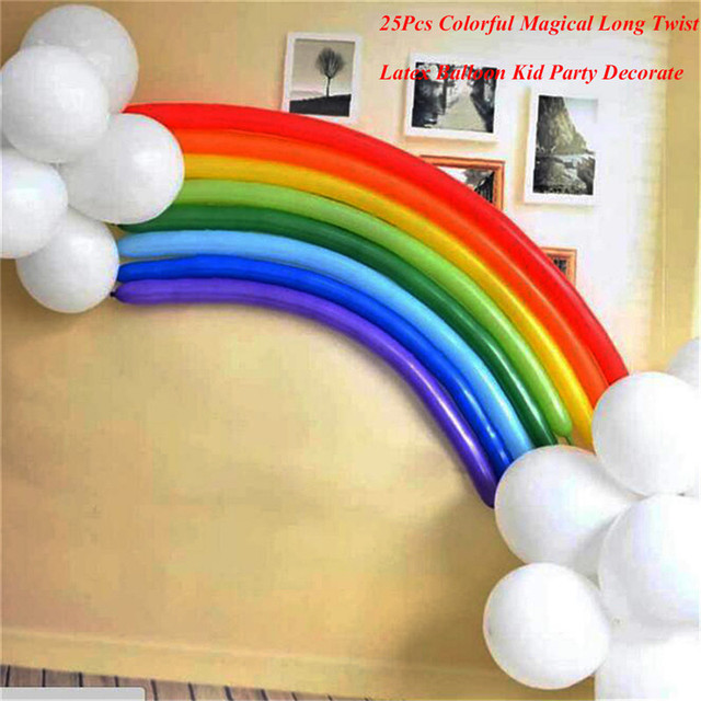 25 Teile/satz Latex Leben Regenbogen Ballons Romantische Valentinstag Ehe  Zimmer Partei Schmücken Ballons Drop