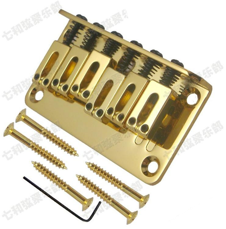 Guitar Parts Golden guitar strings Bridge Saddle Hardtail Bridge Top Load Electric Guitar Bridge savarez 510 cantiga series alliance cantiga normal high tension classical guitar strings full set 510arj