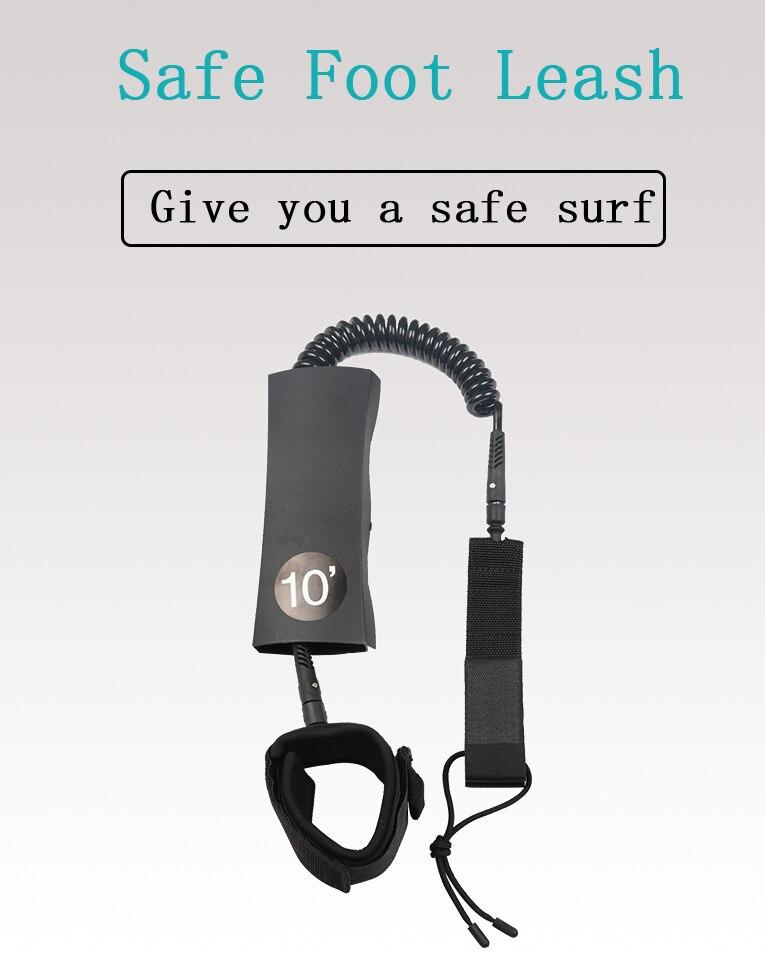 Planche de surf accessoires de Planche À Pagaie Laisse Pied Main Enroulée Corde De Sécurité gonflable SUP accessoires