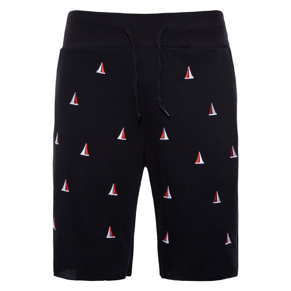 Shorts Mens Bermuda 2018 Summer Solid Color Embroidery Hot Cargo Men Boardshorts Male Brand MenS Short Casual Fitness