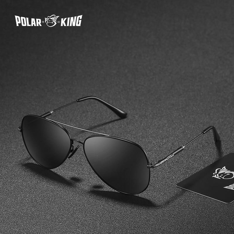 POLARKING Brand Double Bridge Mirror Polarized Sunglasses For Men Travel Fashion Designer Sun Glasses Unisex Driving Eyewear