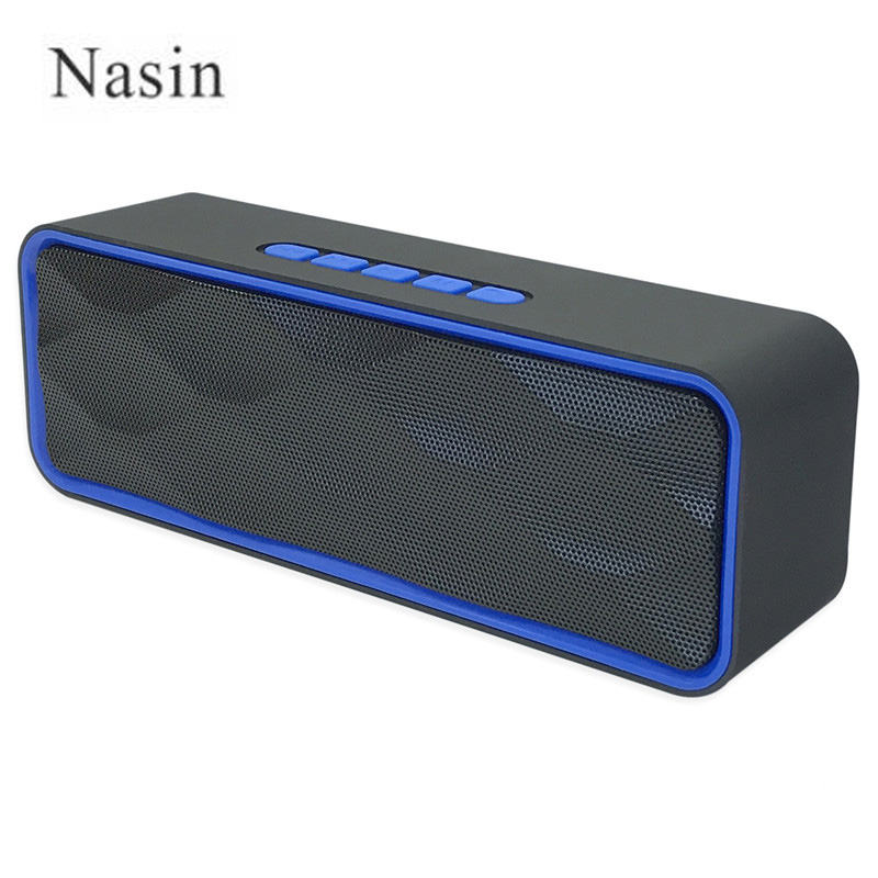 Nasin SC211 Wireless Bluetooth Speaker Portable Handsfree USB TF Card FM Radio Stereo Sound Double Speaker Subwoofer Player tronsmart element t6 mini bluetooth speaker portable wireless speaker with 360 degree stereo sound for ios android xiaomi player