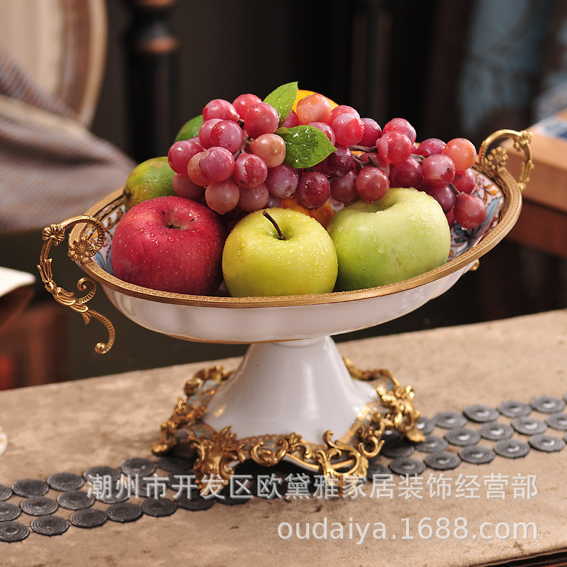 Chinese White copper Fruit plate Home decoration