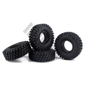 "Image 4 - 4PCS 114MM 1.9"" Rubber Rocks Tyres / Wheel Tires for 1:10 RC Rock Crawler Axial SCX10 90046 AXI03007 Traxxas TRX 4"