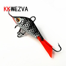 KKWEZVA 1pc 52mm 7.3g Ice jig Fishing Lure winter Ice Fishing metal Hard Bait Pesca Tackle Isca Artificial Bait