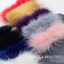 Kewgarden 3*7cm DIY Craft Supplies Mink Hair Sheet Handmade Bowknot Brooch Material Accessories  4pcs/set