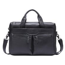 Oil Wax Briefcase Men's Genuine Cowhide Leather Cross Body Shoulder Sling Handbag Portfolio Office Business Bag For Man MR9005