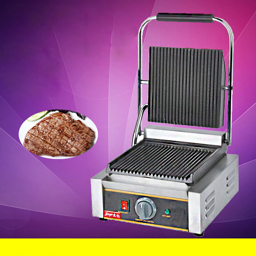 1PC commercial Single plate electric griddle grill / Roast meat steak sandwich Griddle Toaster Machine