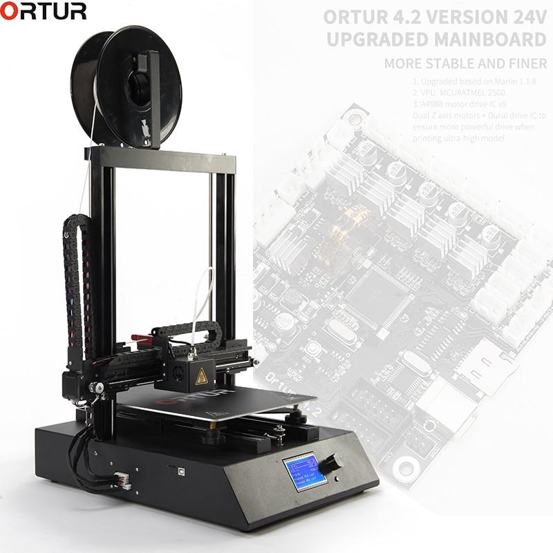 Ortur 3D Atualizado Impressora Extrusora de Alta Qualidade Plus Size LCD12864 Tela de Desktop Fast Instalar Barato Impressora 3d Kit impressora 3d