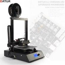 Ortur 3D-принтеры обновлен высокое качество экструдер плюс Размеры LCD12864 Экран Desktop быстрая установка дешевые 3D-принтеры комплект impresora 3d