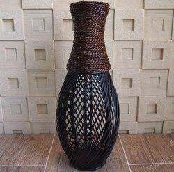 Kingart Large Floor Vase Big Bamboo Large Floor Vase Retro Vintage living Room Home Decor Craft Flower Vase Decoration