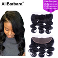 Alibarbara Hair Virgin Peruvian Body Wave Lace Frontal 13x4 Full Lace Frontals With Baby Hair Virgin Human Hair Frontal Closure