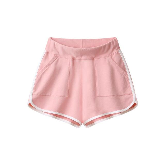 Woman casual summer high waist cotton knitted short young lady workout shorts women indoor fitness running clothes