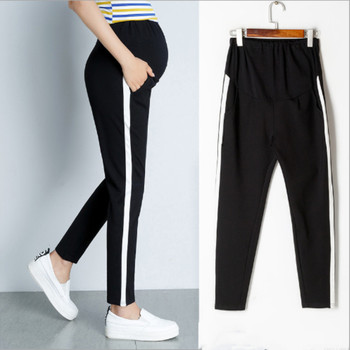 2019 new maternity pants spring pregnant women trousers cotton stomach lift sports pants loose casual stretch pants цена 2017