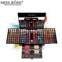 Women Box Shape Eyeshadow Case Full Professional Makeup Palette Concealer Blusher Cosmetic Sets 2017
