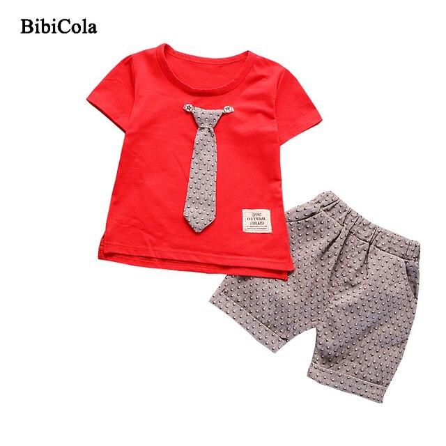 c42a1002f BibiCola verano niños ropa conjunto niños chándal conjunto niños trajes deportivos  conjunto T-Shirt +