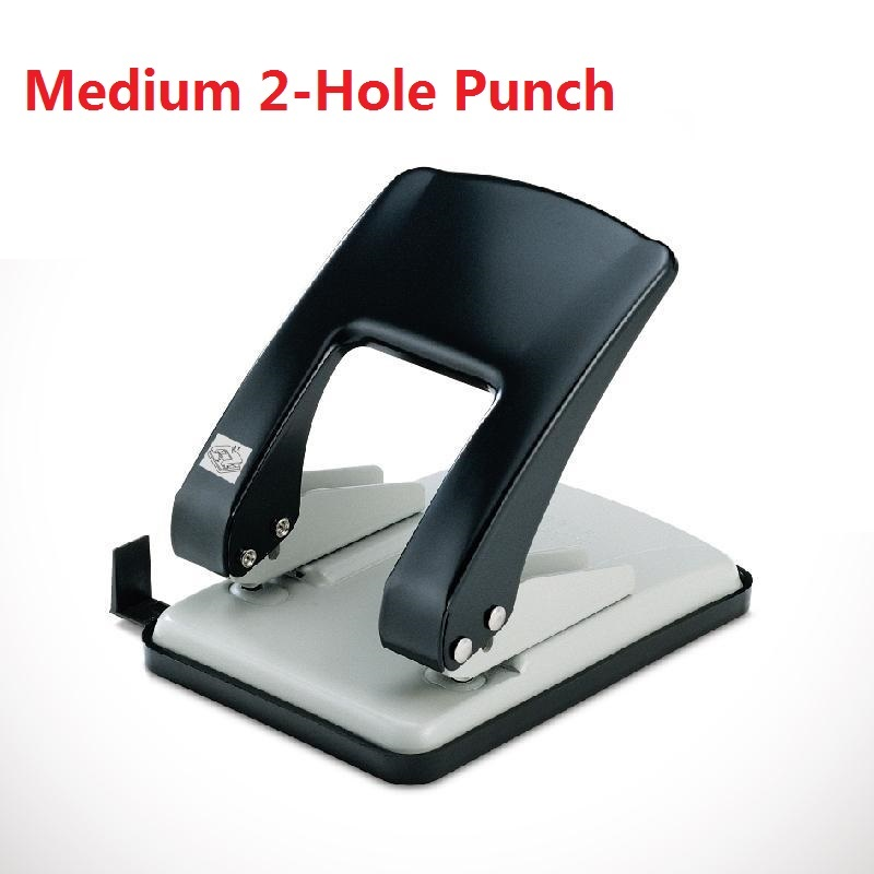 Multifunctional Meidum Metal 2-Hole Punch For A3/A4/A5/B4/B5 Paper Double Hole Keypunch Hole Size 6mm 20 Paper One Time No.9660
