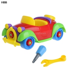 Baby Kid Colorful Car Puzzle Assembly Early Educational Toy DIY Creative Bricks T026