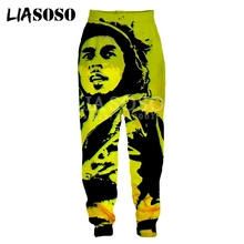 LIASOSO New 3d Print Men Women Sweatpants Smoke Weed Raggae
