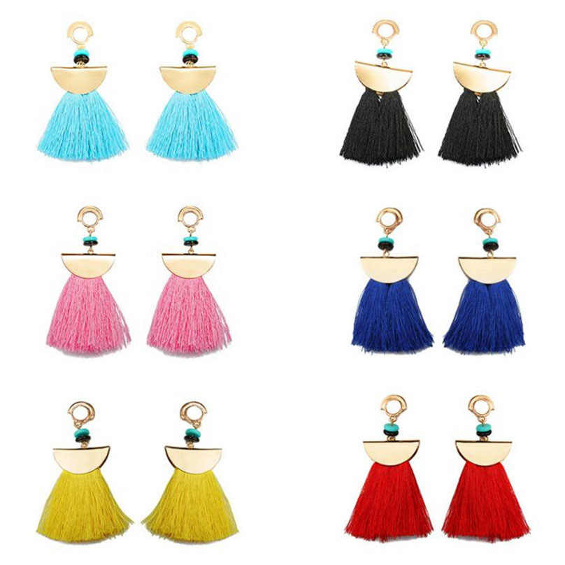 Wholesale Long Tassels Earrings For Women Drop Brincos Bijoux boucle d'oreille Fashion Jewelry Summer Earring NEW 2018