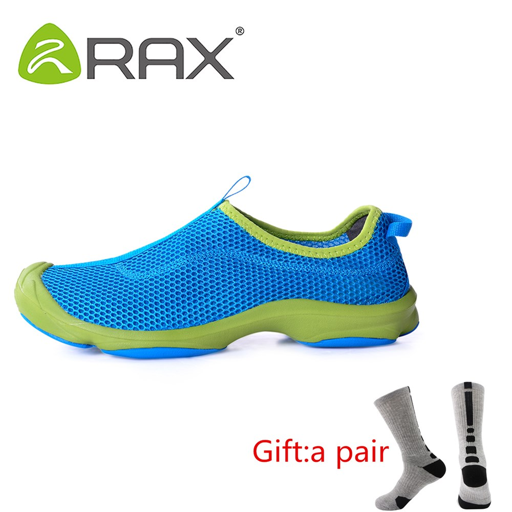 Rax Summer Hiking Shoes Men Breathable Quick Drying Camping Fishing Sneakers Outdoor Jogging Shoes Lightweight Air with gift