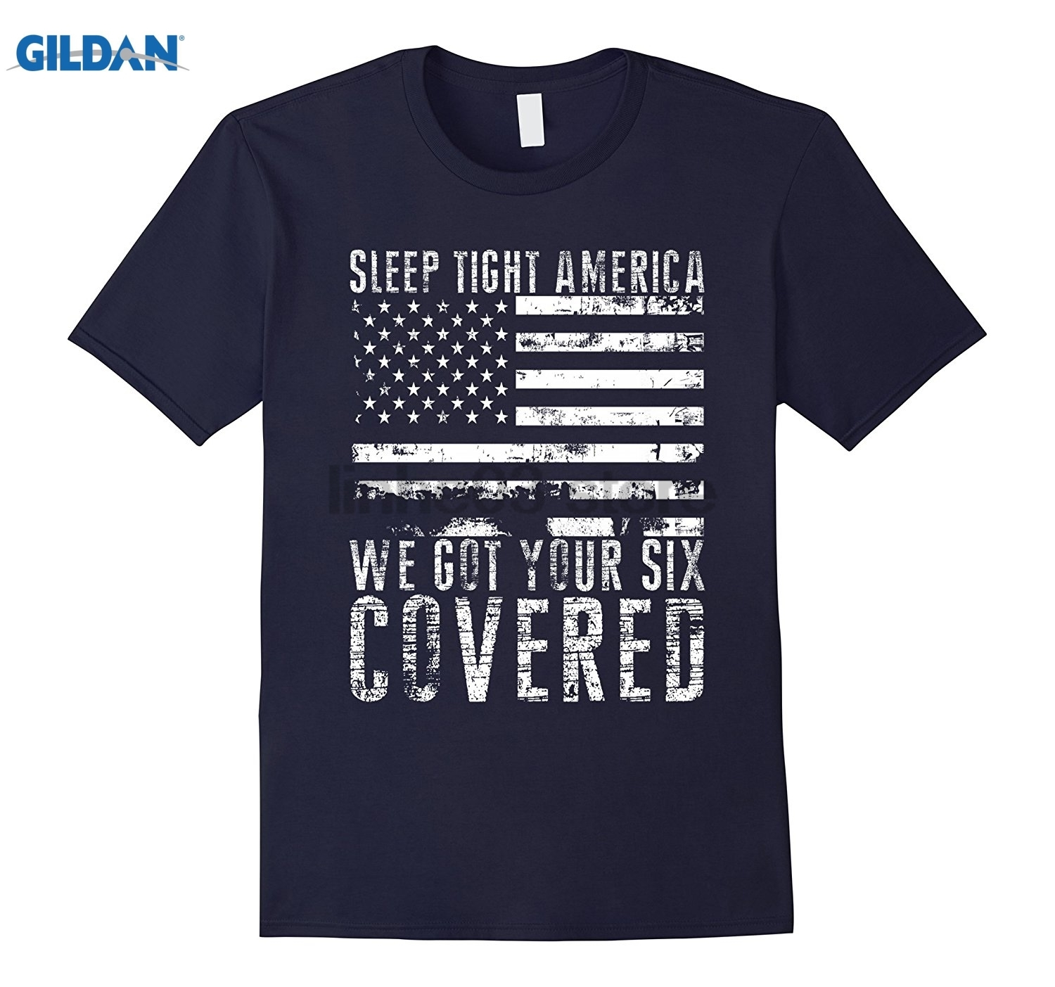 GILDAN Sleep Tight America We Got Your SIX Cover T-shirt Womens T-shirt Dress female T-s ...