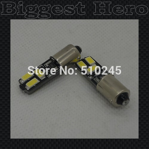 10X big sales 2014 New Canbus BA9S 6 SMD 5630 5730 LED Bulb Vehicle Car Canbus Light led T10 W5W 194 SMD Led Bulb free shipping