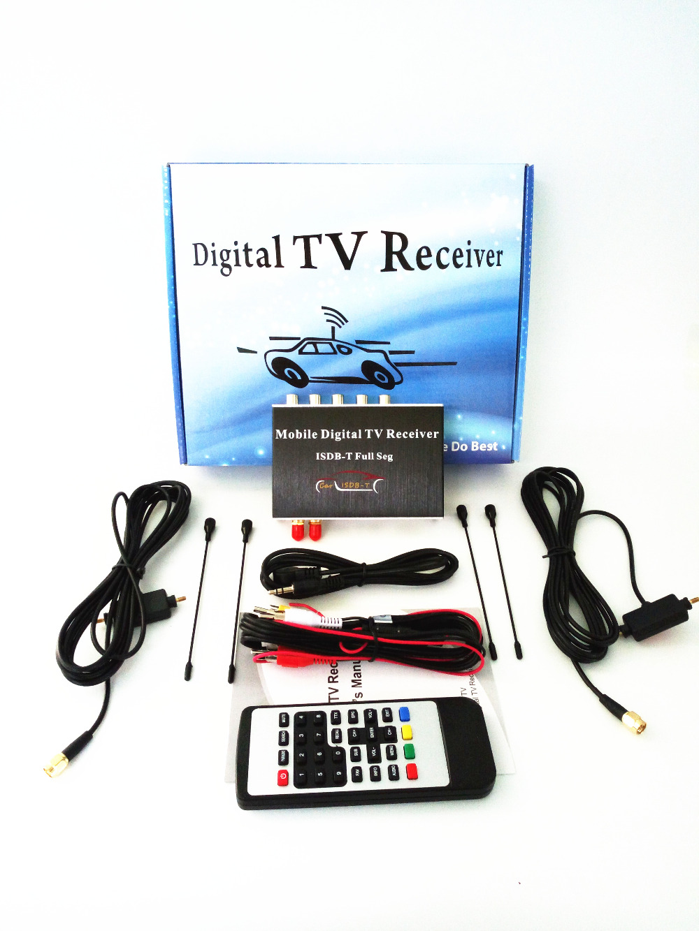 140-190km/h Double Antenna ISDB-T Full Seg Mobile Digital TV Box Car TV Receiver  For Brazil Chile Argentina Peru Japan tv031 brazil standard hd isdb t car digital receiver silver