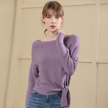 2019 New arrival knitting long sleeve pullover sweater women for Autumn And Winter wool blend woman 18070